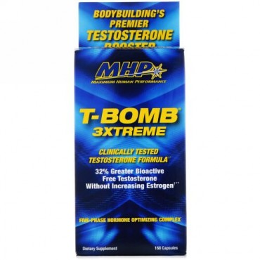 MHP, T-Bomb 3Xtreme, 168 Tablets (Discontinued Item)