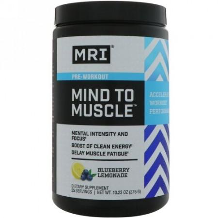 MRI, 心から筋肉プレワークアウト、ブルーベリーレモネード、13.23 oz (375 g) (Discontinued Item)