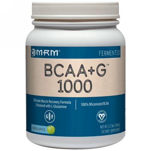 MRM, BCAA+G 1000、グリーンアップル、2.2ポンド (1000 g) (Discontinued Item)