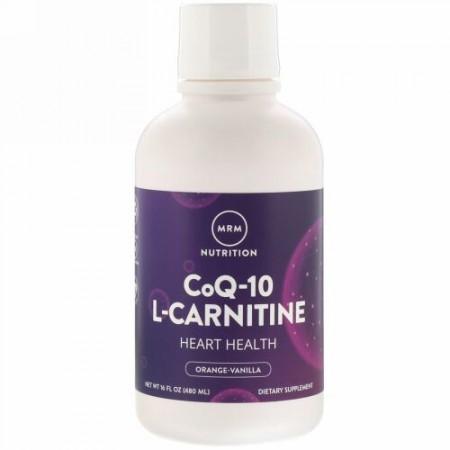 MRM, 栄養素, CoQ-10 L-カルニチン, オレンジバニラ, 480 ml(16 fl oz)