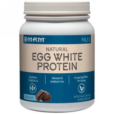 MRM, ナチュラルエッグホワイトプロテイン、チョコレート、24 oz (680 g) (Discontinued Item)
