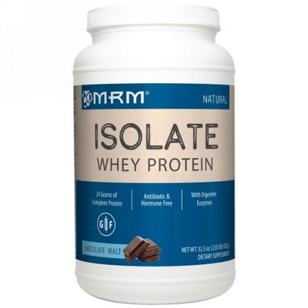MRM, ナチュラルホエイタンパク質アイソレート、チョコレート麦芽、922g(2.03 lb) (Discontinued Item)