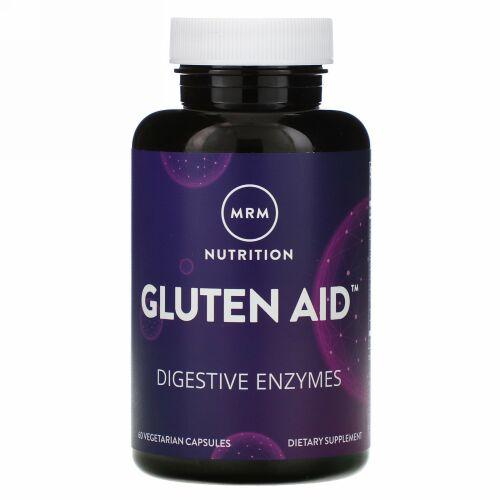 MRM, ニュートリション、Gluten Aid(グルテンエイド)、ベジカプセル60粒