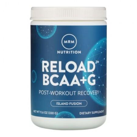 MRM, Reload(リロード)BCAA+G、ワークアウト後の疲れが気になる方に、アイランドフュージョン、330g(11.6オンス)