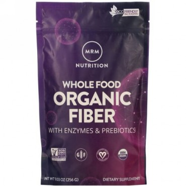 MRM, Whole Food, Organic Fiber with Enzymes and Prebiotics, 9.3 oz (256 g)