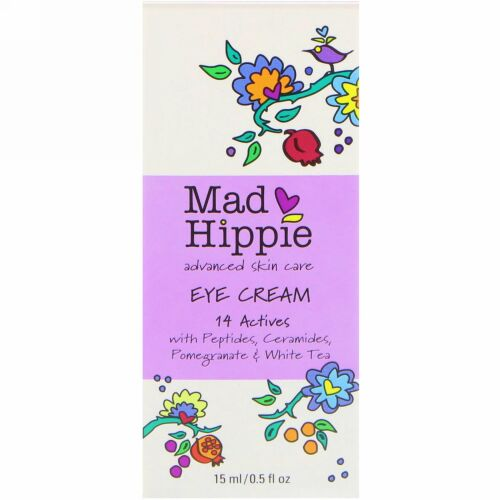 Mad Hippie Skin Care Products, アイクリーム, 13アクティブ, 0.5液量オンス(15 ml)