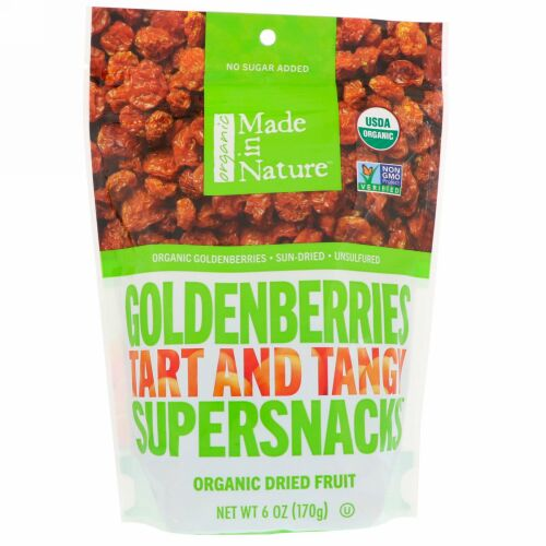 Made in Nature, オーガニック・ゴールデンベリー・タルトとタンジー・スーパースナック、6オンス(170 g) (Discontinued Item)