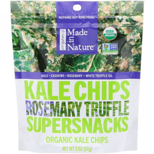 Made in Nature, オーガニック ケール チップス、スーパースナックス、ローズマリー トリュフ、2 oz (57 g) (Discontinued Item)
