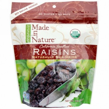 Made in Nature, オーガニックレーズン, 6オンス(170 g) (Discontinued Item)