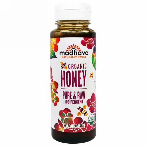 Madhava Natural Sweeteners, オーガニック蜂蜜、天然物・未加工、340g (Discontinued Item)