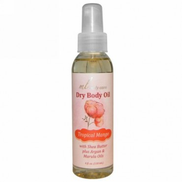 Madre Labs, Dry Body Oil、Tropical Mango、Light and Absorbs Fast with Argan & Marula Oils + Shea Butter、4 fl. oz. (118 mL) (Discontinued Item)