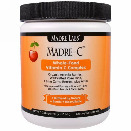 Madre Labs, マドレ(Madre)-C, 自然食品ビタミンC複合体, 7.62オンス(216 g) (Discontinued Item)