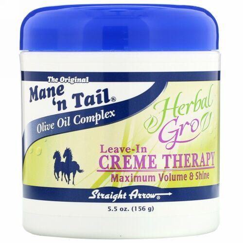Mane 'n Tail, ハーバル・グロ、リーブ・イン・クリーム・セラピー、  5.5 オンス (156 g)