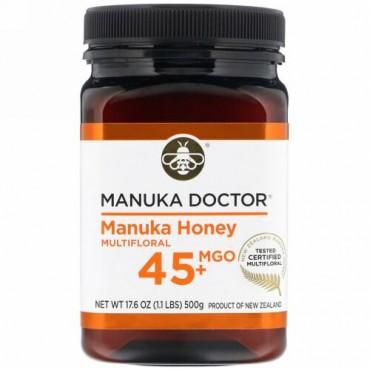 Manuka Doctor, マヌカハニーマルチフローラル、MGO 45+、500g(1.1ポンド)
