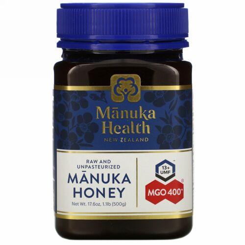 Manuka Health, マヌカハニー、MGO 400+、500g (1.1lb)