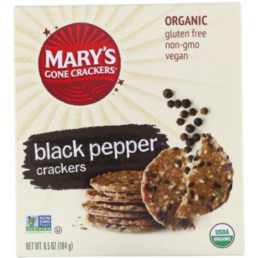Mary's Gone Crackers, Black Pepper Crackers, 6.5 oz (184 g)