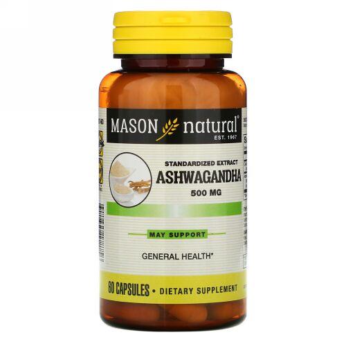 Mason Natural, Ashwagandha, 500 mg, 60 Capsules