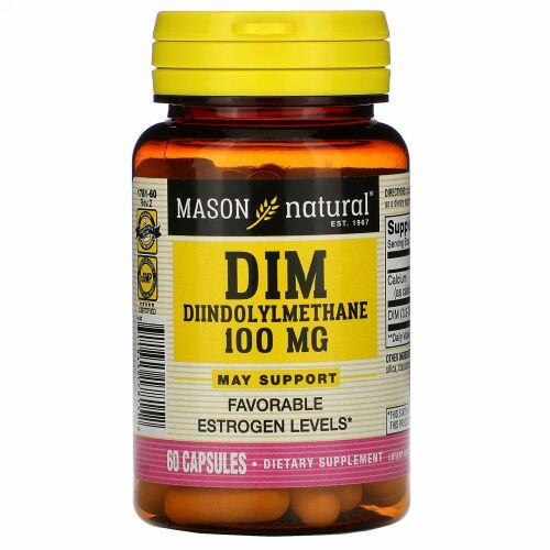 Mason Natural, DIMジインドリルメタン、100mg、60カプセル