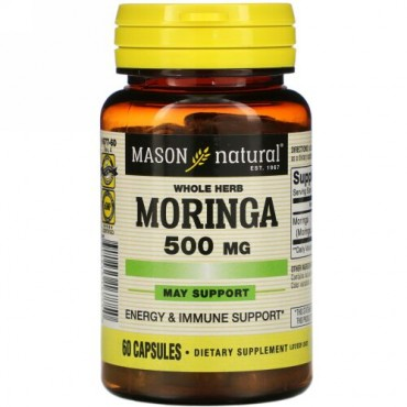 Mason Natural, Whole Herb Moringa, 500 mg, 60 Capsules