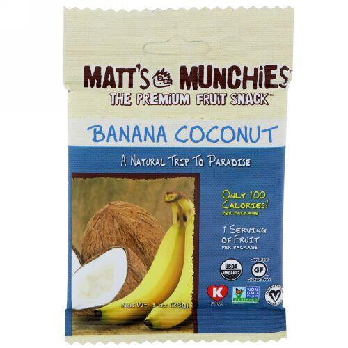 Matt's Munchies, バナナココナッツ、12パック、各1オンス (28 g) (Discontinued Item)