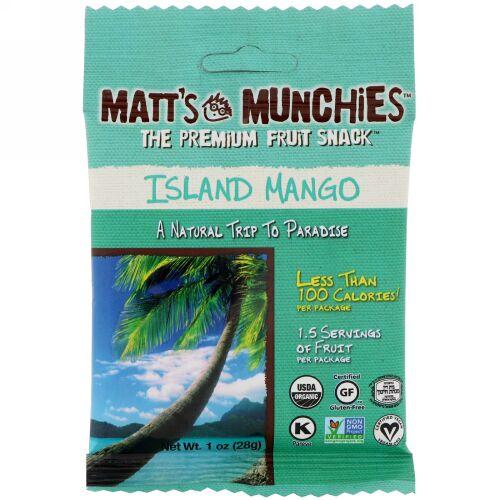 Matt's Munchies, アイランドマンゴー、12パック、各1オンス (28 g) (Discontinued Item)