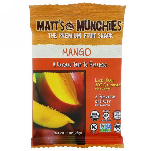 Matt's Munchies, マンゴー、12パック、各1オンス (28 g) (Discontinued Item)