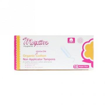 Maxim Hygiene Products, マキシムオーガニック・コットン・ノンアプリケータータンポン、スーパープラス、タンポン16個 (Discontinued Item)