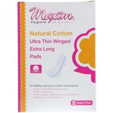 Maxim Hygiene Products, 超うす羽つきエクストラロングパッド、Super Plus、8個 (Discontinued Item)
