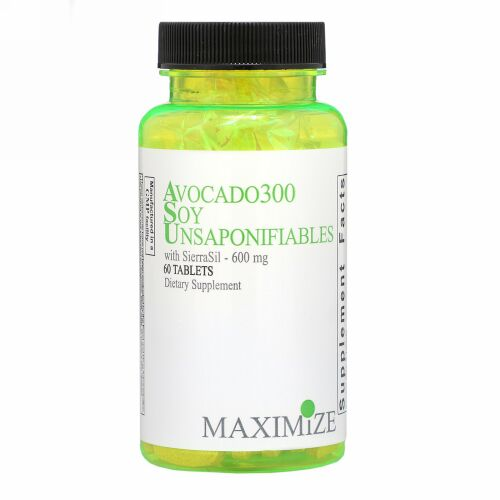 Maximum International, アボカド300大豆不けん化物(Avocado 300 Soy Unsaponifiables), 600 mg, 60錠