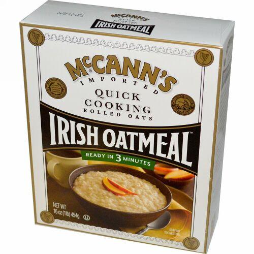 McCann's Irish Oatmeal, 手早い料理, ロールドオーツ, 16オンス (454 g) (Discontinued Item)