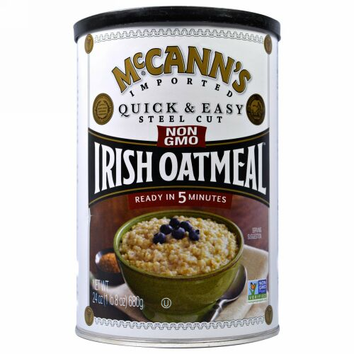 McCann's Irish Oatmeal, クイック&イージースチールカット・アイリッシュオートミール、24 oz (680 g) (Discontinued Item)
