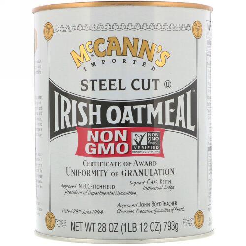 McCann's Irish Oatmeal, スティールカットオートミール, 28 oz (793 g) (Discontinued Item)