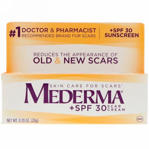 Mederma, スカークリーム、+SPF 30、0.70オンス (20 g)