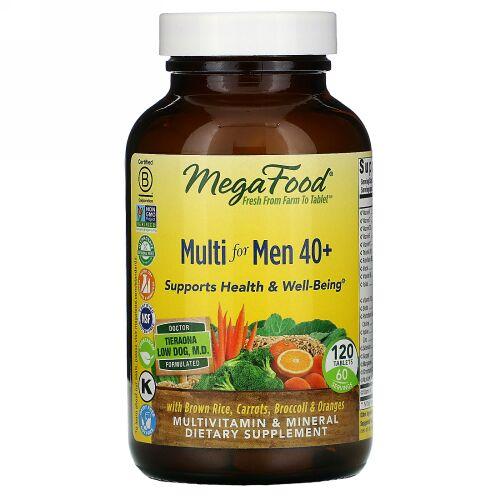 MegaFood, 40代からの男性用マルチ、120粒