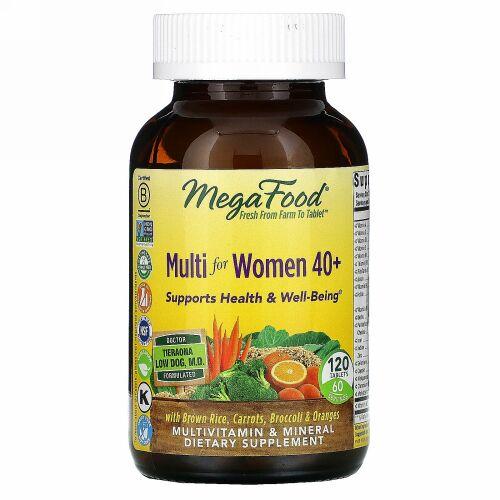 MegaFood, 40代からの女性用マルチ、120粒