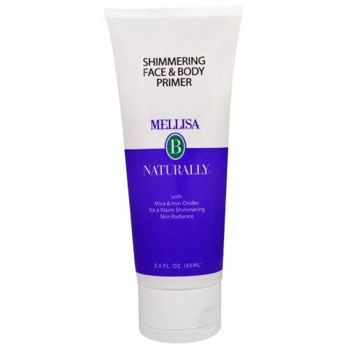 Mellisa B. Naturally, シマーリング・フェイス&ボディー・プライマー、3 液体 オンス(88 ml) (Discontinued Item)