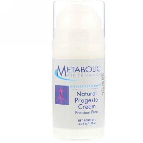 Metabolic Maintenance, ナチュラル プロゲステロン クリーム、100ml(3.5fl oz)