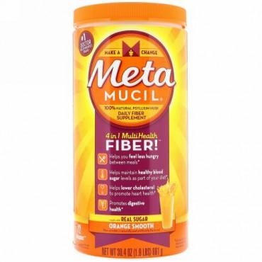 Metamucil, 4 in 1 Multihealth Fiber Powder, Orange Smooth , 30.4 oz (861 g) (Discontinued Item)