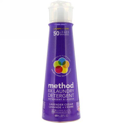 Method, 8X 洗濯洗剤、ラベンダー・シーダー、 20 液量オンス (600 ml) (Discontinued Item)