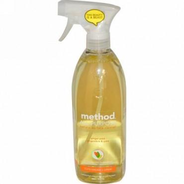 Method, オールパーパスナチュラルサーフェスクリーナー、 ジンジャーとゆず、 28液量オンス (828 ml) (Discontinued Item)