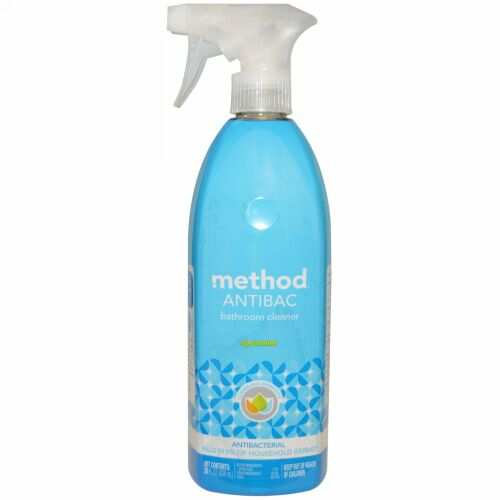 Method, アンチバク、お風呂クリーナー、スペーアミント、828ml (Discontinued Item)