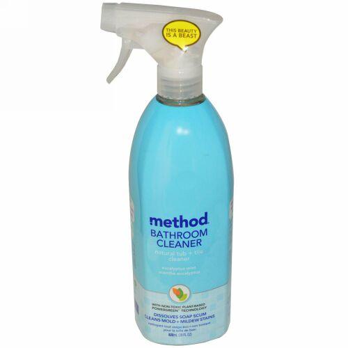 Method, バスルームクリーナー、天然由来の浴槽・タイルクリーナー、ユーカリミント、28 fl oz(828 ml) (Discontinued Item)