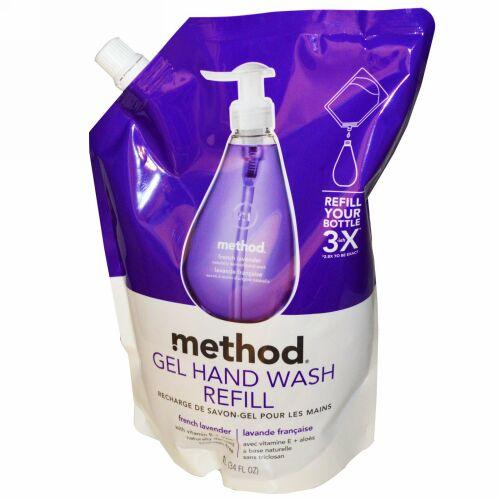 Method, ジェルハンドウォッシュ詰め替え用, フレンチラベンダー , 34 液量オンス (1 L) (Discontinued Item)