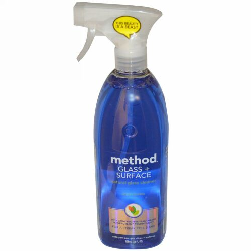 Method, ガラスとサーフェス、 自然なガラスクリーナー、ミント、 28液量オンス (828 ml) (Discontinued Item)