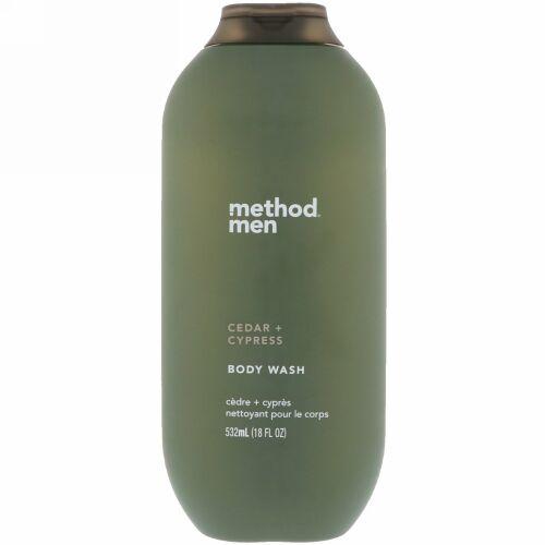 Method, メンズ、ボディウォッシュ、シーダー+サイプレス、18 fl oz (532 ml) (Discontinued Item)