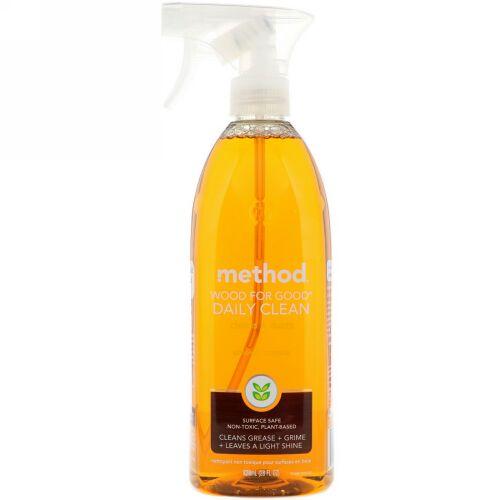 Method, ウッド・フォー・グッド® デイリークリーン, アーモンド, 28 液量オンス (828 ml) (Discontinued Item)