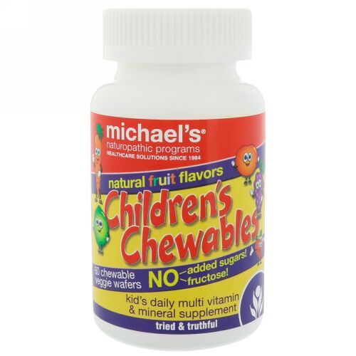 Michael's Naturopathic, Children's Chewables, Natural Fruit Flavors, 60 Chewable Veggie Wafers (Discontinued Item)