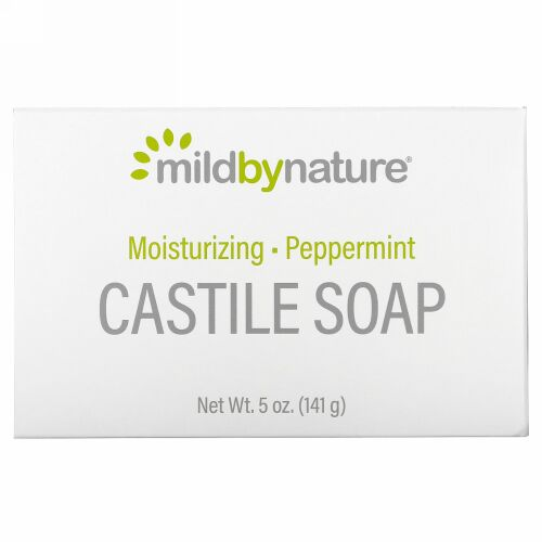 Mild By Nature, カスティール石鹸、ペパーミント、141g(5オンス)