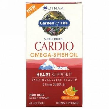 Minami Nutrition, カーディオ・オメガ3フィッシュオイル、オレンジ味、ソフトゲル60錠