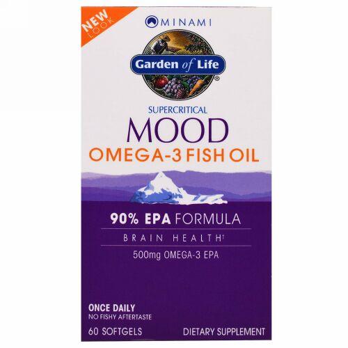 Minami Nutrition, スーパークリティカル ムード オメガ-3 フィッシュオイル、500 mg、60ソフトジェル